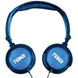 NAXA Electronics NE-926BL 2-In-1 Combo Super Bass Stereo Headphones and Earphones, Blue