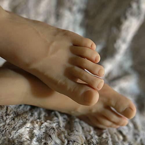 FidgetFidget A Pair Realistic Silicone Male Feet Shoes Displays Model Mannequin Size 43 h012 by FidgetFidget (Image #2)