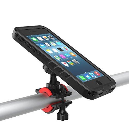 FindaGift Funda iPhone 7 / iPhone 8 4.7 Estuche estanco con soporte giratorio para manillar de bicicleta (negro) Black