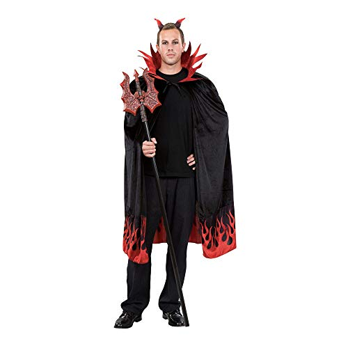 Seasons Direct Halloween Adult Devils Capes (Cape only, No Red Trident &Horns)
