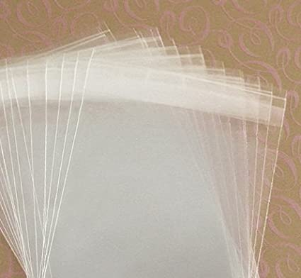 "Envelope 100-4-15//16/"" X 6-9//16/"" CLEAR  RECLOSABLE CELLO BAGS Fit A6 Card"