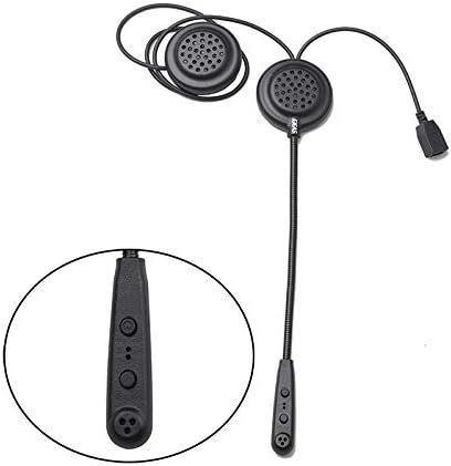 QIAOZHOO E200 300m Outdoor Riding 2 Riders Full Duplex Talking Bluetooth Intercom Multi-Interphone Headsets, ondersteuning krijgen Calling & Listen Music & Aux-ingang