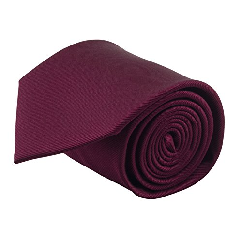 100% Silk Handmade Burgundy Solid Color Neckties for Men Tie Men's Necktie by John William