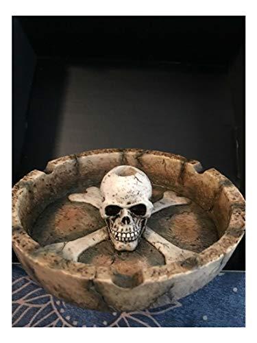 Skull, Cigarette, Ashtray, Cigar, Ash Tray, New W/Orig.Box, Gothic, Zombie (Orig Box)