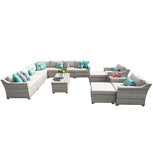 TK Classics FAIRMONT-13a 13 Piece Outdoor Wicker Patio Furniture Set