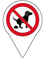 Lot de 4schild Panneau Interdiction pas crottes de chien/150x 110mm–Impression directe sur 4mm aludibond
