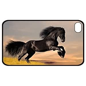 New Black Stallion Apple iPhone 4 4S Hard Faceplate Case Cover