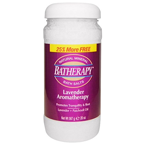 Lavender Batherapy Mineral Bath Salts 1 Pounds (Bath Salts Mineral Batherapy)