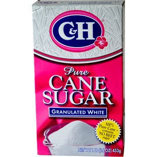 C & H Pure Cane Sugar, Granulated White 1 lb (Pack of 24)