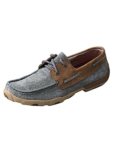 Twisted X Women's Driving Moccasins, Color: Jeans/Bomber, Size: 7.5, Width: M (W