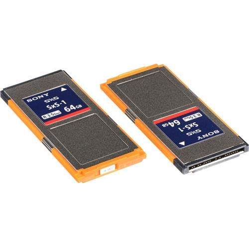 Sony SxS-1 G 1C Series 64GB Memory Card, Up to 440MBs Read Speed, Up to 200MBs Write Speed - 2-Pack