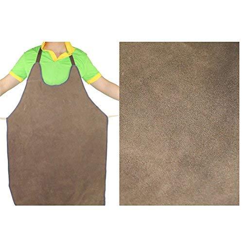 TUYU Grembiule per salviette in vera pelle bovina resistente al fuoco Grembiule da lavoro fabbro durevole Isolamento termico Kit di protezione per la maggior parte delle persone