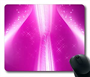 Background Color Abstract Oblong Shaped Mouse Pad