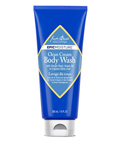 Jack Black - Clean Cream Body Wash, 10 fl oz - Epic Moisture Collection, Moisturizing Body Wash, with Ginger Root, Argan Oil & Organic Olive -