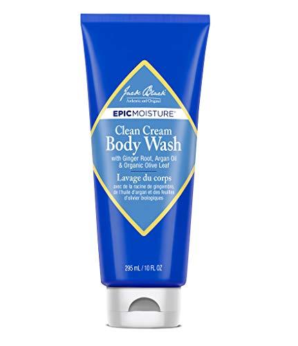 (Jack Black - Clean Cream Body Wash, 10 fl oz - Epic Moisture Collection, Moisturizing Body Wash, with Ginger Root, Argan Oil & Organic Olive Leaf)