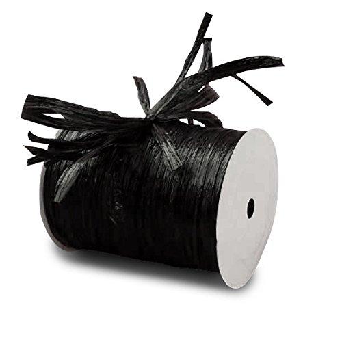 Black Matte Raffia Ribbon, 1/4 X 100 Yards 1/4 X 100 Yards Paper Mart TRTBB2463