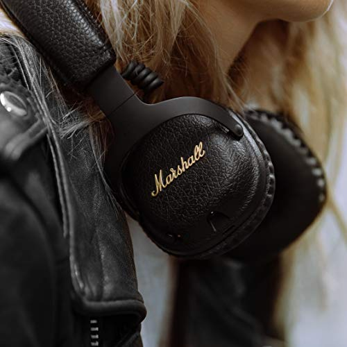 41WHlic6EgL - Marshall Mid ANC Active Noise Cancelling On-Ear Wireless Bluetooth Headphone, Black (04092138)