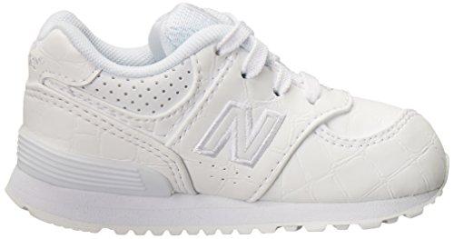 New Balance 574, Zapatillas infantil Multicolor (White/White)