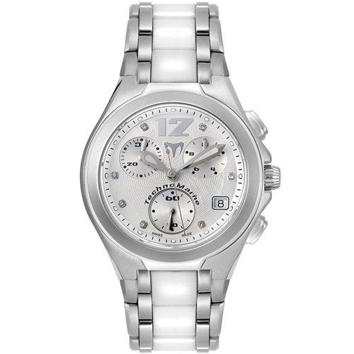 TechnoMarine Unisex TMNCWC55C NeoClassic Chrono Fusion White Stainless Steel Watch