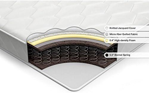PrimaSleep 10 Inch Wave Gel Infused Memory Foam Mattress, Twin, Gray