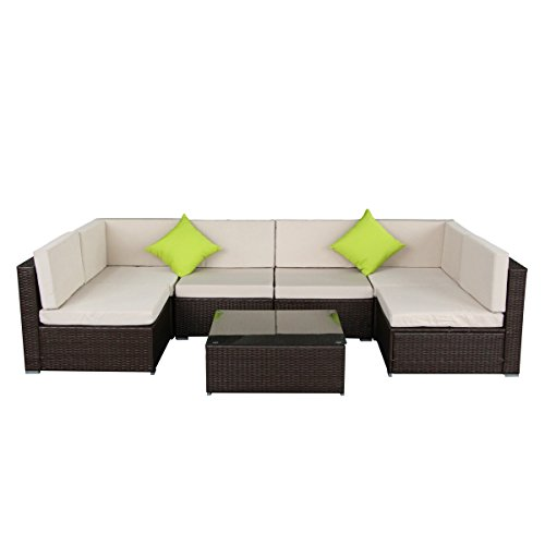 Aecojoy Outdoor Rattan Furniture Sectional Overview