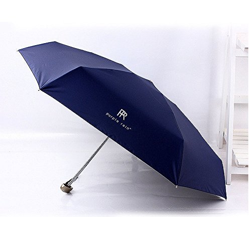 Umbrella Folding Shade Umbrellas Fashion Woman Men (Blue) by Tomato99
