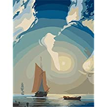 CaptainCrafts New Paint by Number Kits - Titanic 16x20 inch Frameless - Diy Painting by Numbers for Adults Beginner Kids
