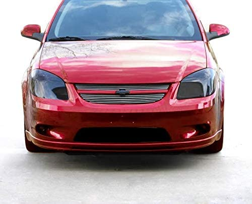 Fits 05-10 Chevy Cobalt SS//SC Model Bolton Upper 2PC Horizontal Billet Polished Aluminum Grille Grill Inser Not for LT//LS