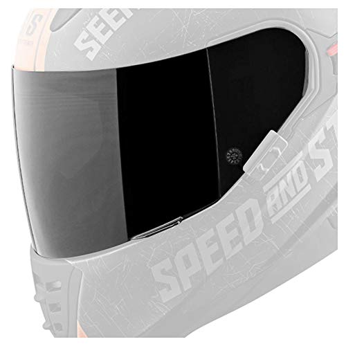 Speed and Strength Replacement Faceshield SS1600 Street Racing Motorcycle Helmet Accessories - Tinted / One - Motorcycle Helmet Shield Replacement