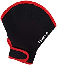 Flow Swimming Resistance Gloves - Webbed Gloves for Water Aerobics, Aquatic Fitness, and Swim Training