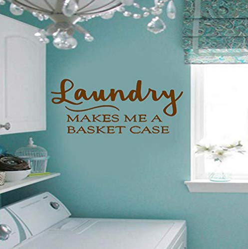 Wall Sticker Laundry Makes Me a Basket Case Decals Home Vinyl Wall -