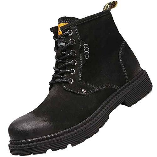 Plug Chart Ngk (KUIBU Men's Leather Lace up Anti-Slip Ankle Waterproof Snow Hiking Motorcycle Combat Booties Martin Boots)