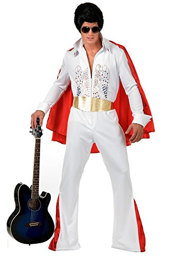 Charades Men's Rhinestone Rock Star Costume, Black, Large Charade Dinner
