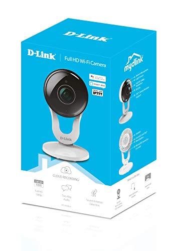 Câmera de segurança, Full-HD , Wi-Fi com Visão Noturna, slot para cartão SD, D-link, DCS-8300LH, Branca , Compatível com…