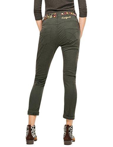 Desigual Pant_exotic, Pantalones para Mujer Verde (CAQUI 4002)