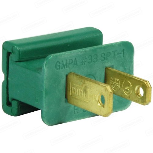 Superior Holiday Light - Green - Male Gilbert Replacement Plug for Commercial Christmas Lights - SPT-1 Rated - SHL MALE4001