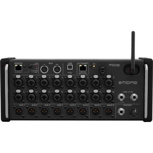 Midas MR18 18-Input Digital Mixer for iPad/Android Tablets (Best Tablet Controlled Mixer)