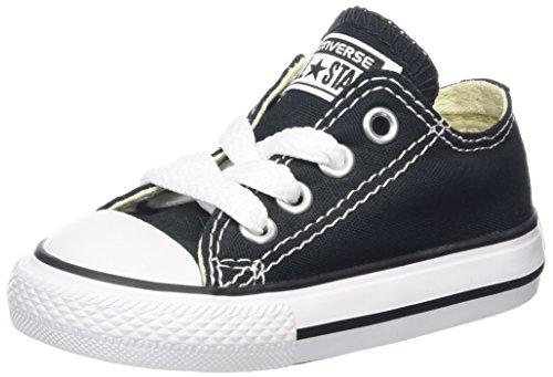 [Converse Infants's Converse Infants Chuck Taylor A/S Oxford Basketball Shoes, Black, Size 10 US] (Black Kids Shoes)