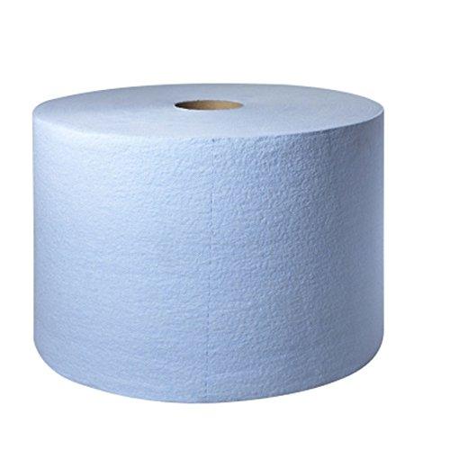 Tork 450304 Heavy-Duty Giant Roll Single-Ply Paper Wipers, Blue