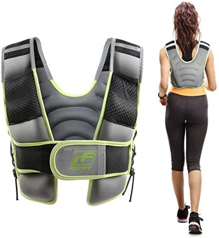 RitFit Adjustable Weighted Vest with Neoprene Fabric for Men Women, 8lbs 10lbs 15lbs 20lbs, Weight Vest for Workout, Crossfit, Strength Training, Muscle Building