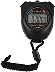 Professional Stopwatch Handheld Digital LCD Sports Stopwatch Chronograph Counter Timer with Strap Stylish