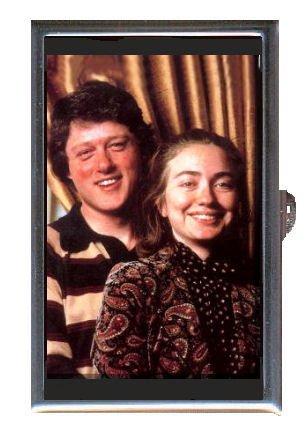 Case Clinton Bill (Bill Clinton Hillary Clinton Guitar Pick or Pill Box USA Made)