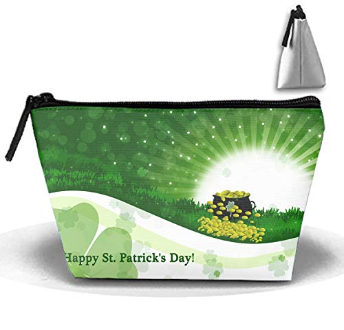 Cosmetic Bags Travel Portable Makeup Pouch Holiday St. Patricks Day Clutch Bag with Zipper ()