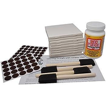 Cool 1 Ceramic Tile Tiny 1 Ceramic Tiles Round 16 X 24 Tile Floor Patterns 16X16 Ceiling Tiles Youthful 2 By 2 Ceiling Tiles Gray2X2 Ceiling Tiles Home Depot Amazon.com: Annys Coaster Tile Kit: Set Of 10 Glossy White Ceramic ..