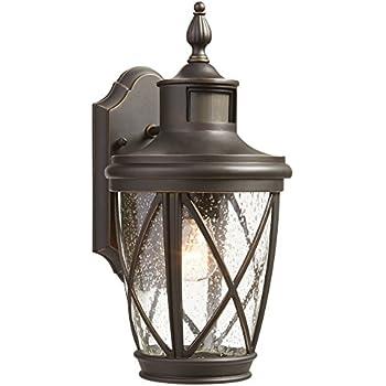 Allen Roth Castine 23 75 In H Rubbed Bronze Outdoor Wall Light Amazon Com