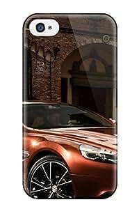 New Sports Car Near Brick Building Tpu Case Cover, Anti-scratch BHsoOMk431Pnqbn Phone Case For Iphone 4/4s
