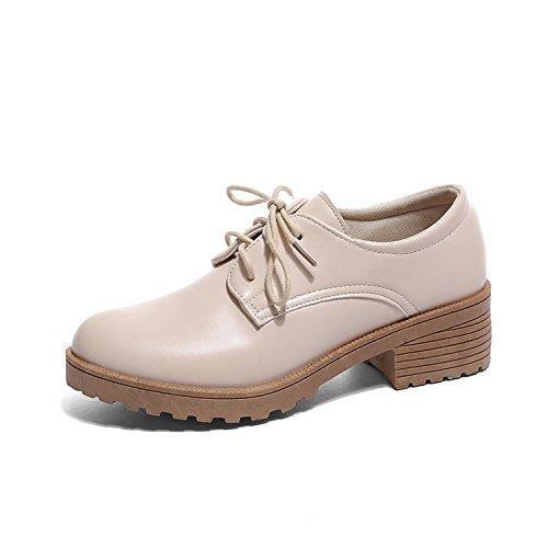 Zapatos Otoño Ropa Nuevo E Mujer Y Casual Para Zapatos Invierno Para seven Zapatos Para Beige De Treinta Bajos Thirty Becerro Mujer Siete Tacón Para KPHY w6qdTII