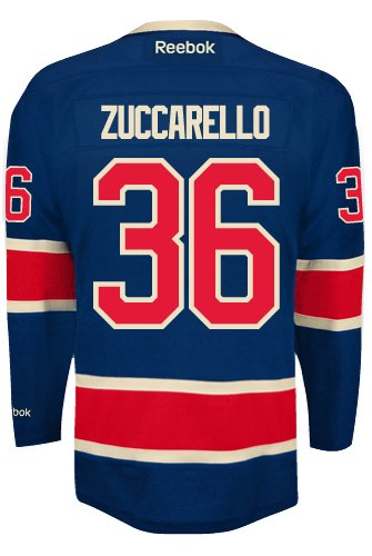 8ce2cc8e3f1 Mats Zuccarello New York Rangers NHL Third Reebok Premier Hockey Jersey   Amazon.ca  Sports   Outdoors
