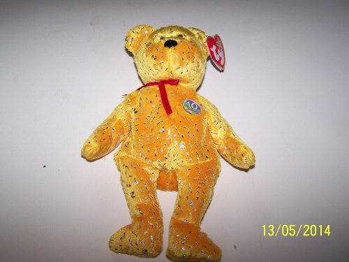 TY Beanie Baby - DECADE the Bear (Gold ()
