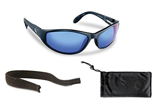 Flying Fisherman Viper Polarized Sunglasses Bundle Kit, Matte Black/Smoke-Blue - Vb Sunglasses